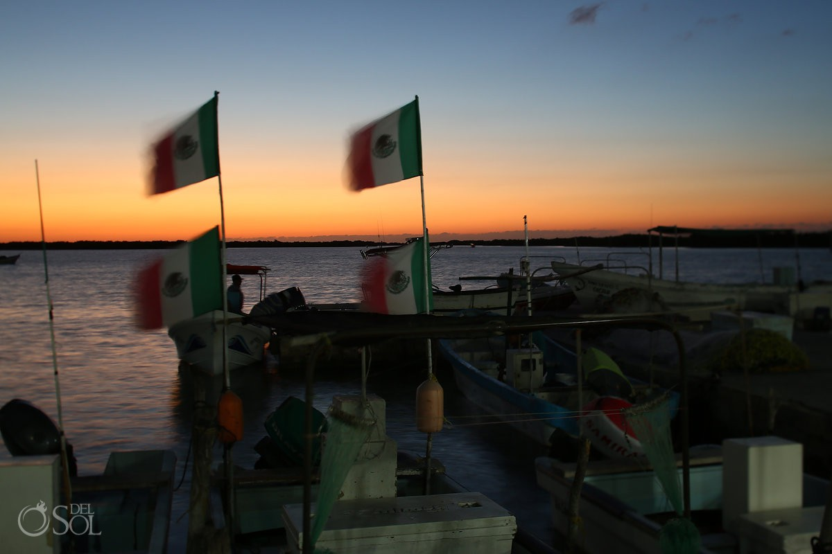 mexican flags night dusk at sunset pink romance del sol photography