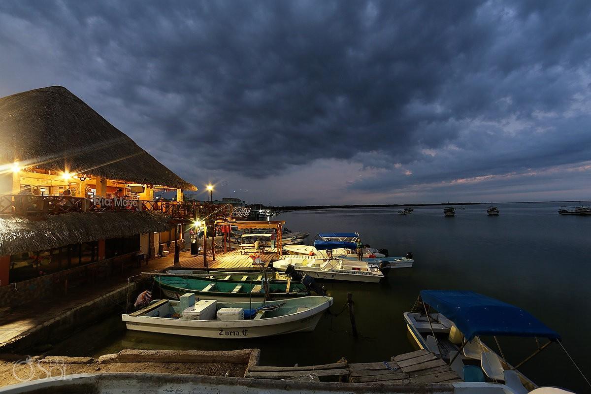 Riviera Maya adventures restaurant rio lagartos yucatan mexico pink romance