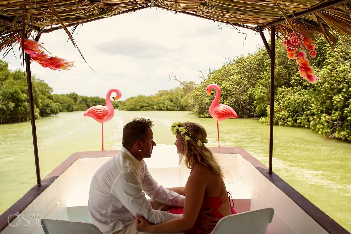 Pink Romance Flamingo Limo Rio Lagartos Yucatan Mexico #ExperienciasInfinitas