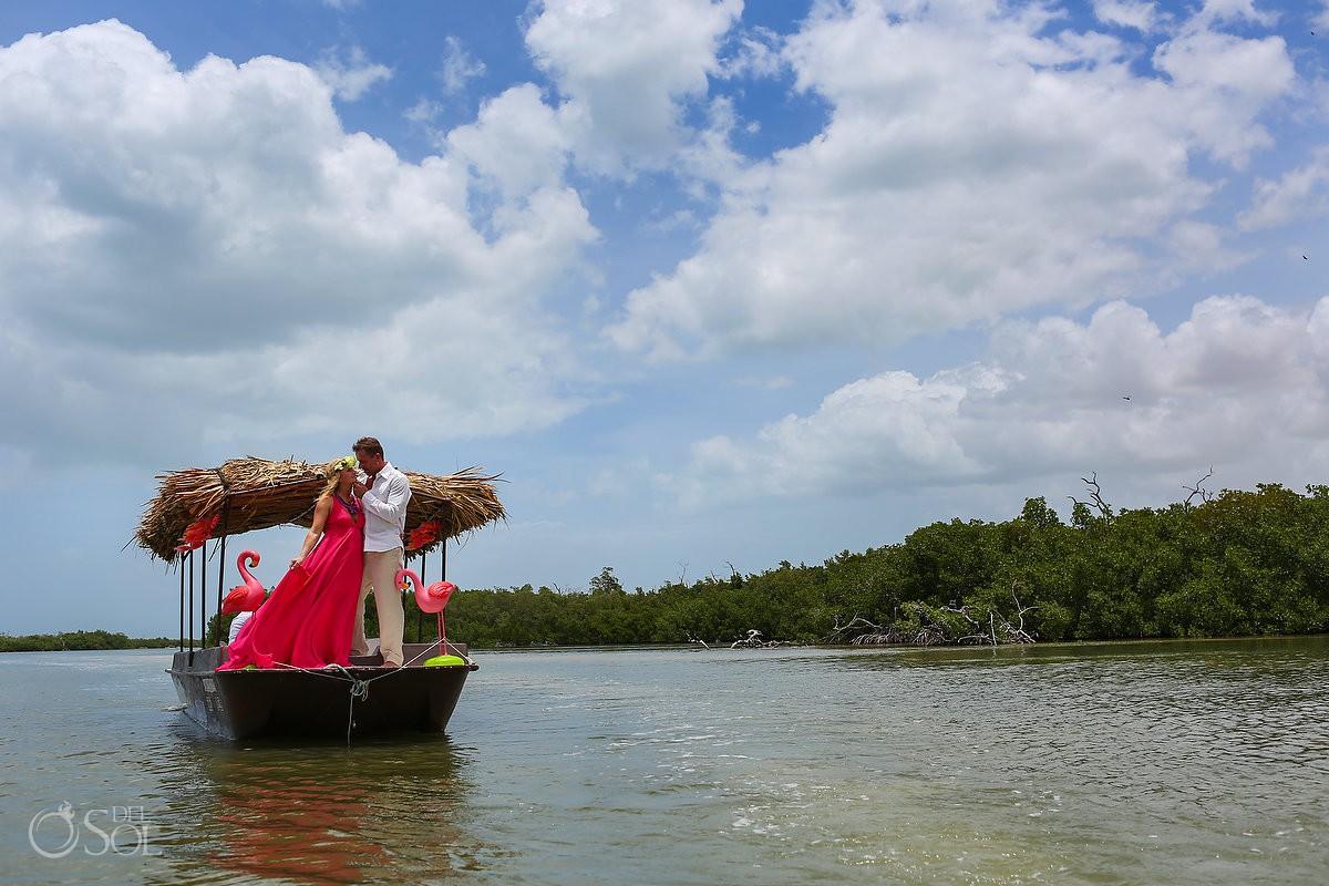 Rio Lagartos Pink Romance Adventure Flamingo Limo Yucatan Mexico del Sol Photography
