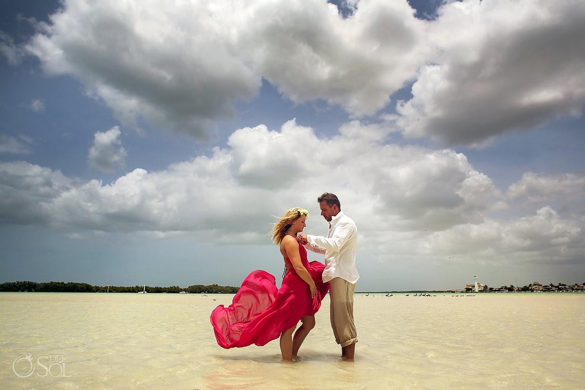 PInk Romance dress by David Salomon rio lagartos yucatan adventure del sol photography