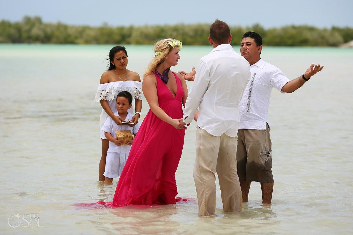 Surprise Pink Romance Vow renewal ceremony Rio Lagartos Yucatan Mexico Diego Riviera Yucatan adventures tours #ExperienciasInfinitas