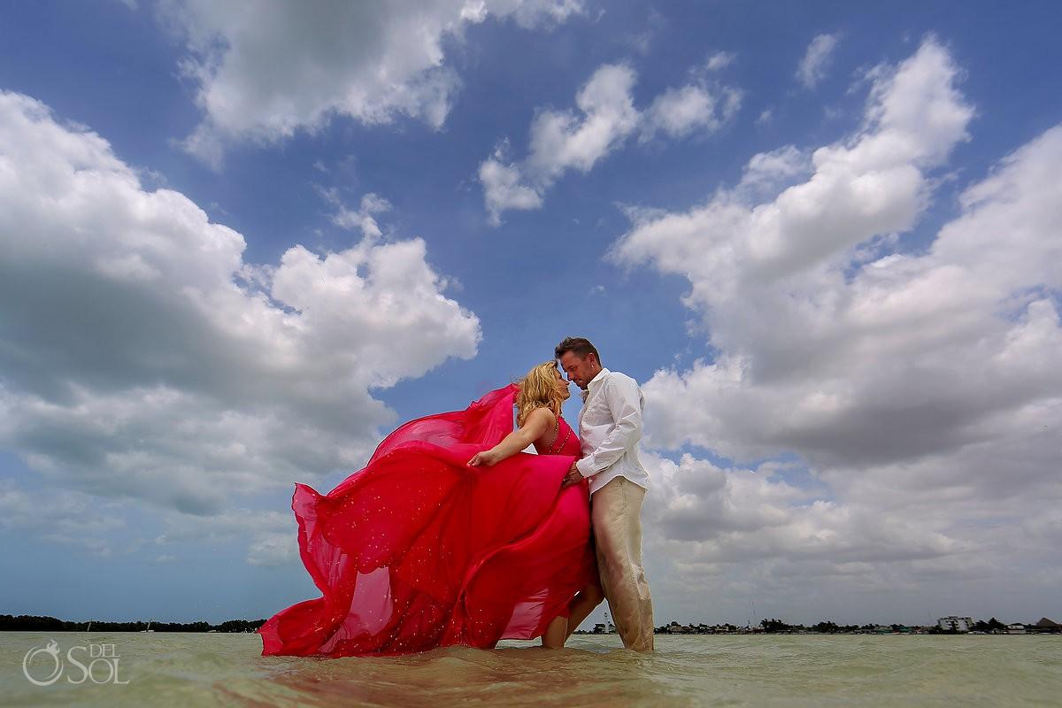 pink Romance dress david Salomon yucatan mexico rio lagartos adventure