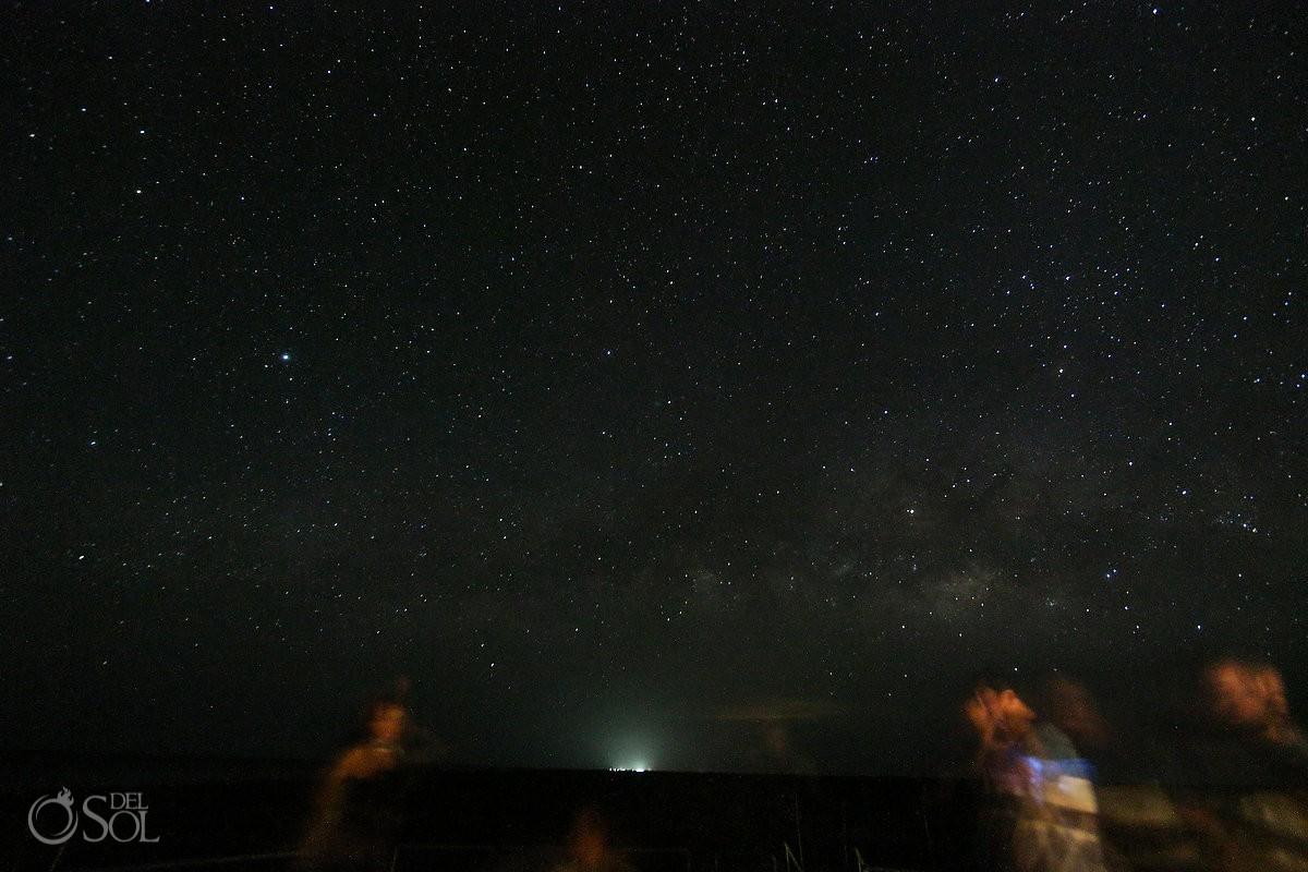starry night nirvana blue hotel ria lagartos yucatan mexico long exposure