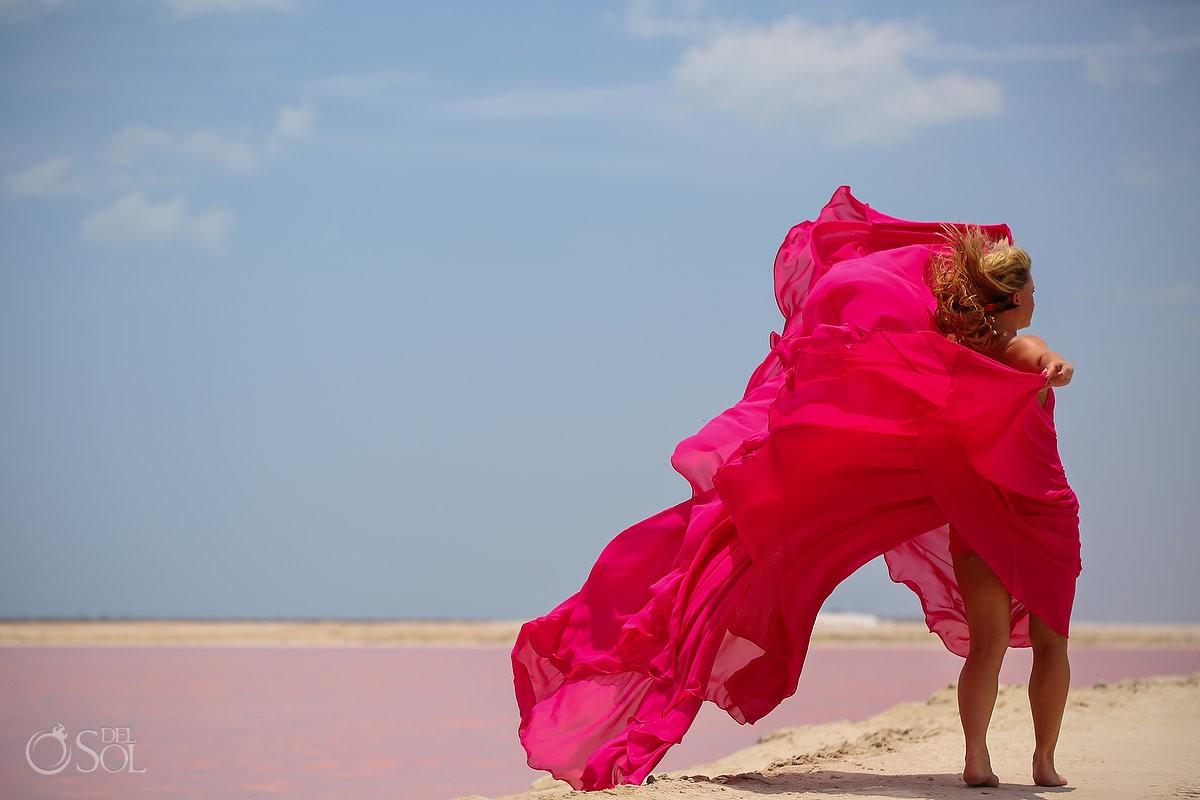 David Salomon Pink Romance dress design las coloradas Yucatan Mexico