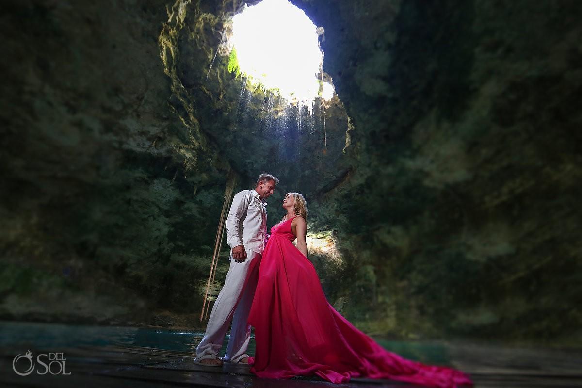 Pink Romance dress by David Salomon cenote hubiko del sol photography #ExperienciasInfinitas