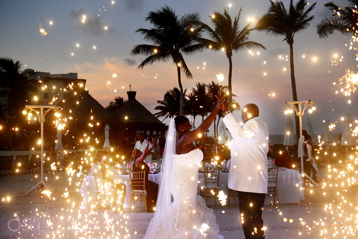 First Dance fireworks Dreams Riviera Cancun Resort, Mexico