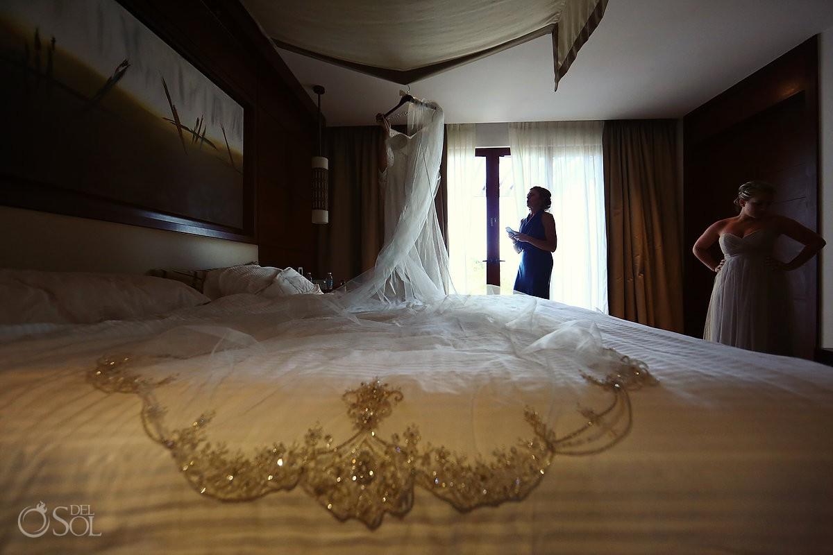 destination wedding getting ready Secrets Playa Mujeres Golf & Spa Resort