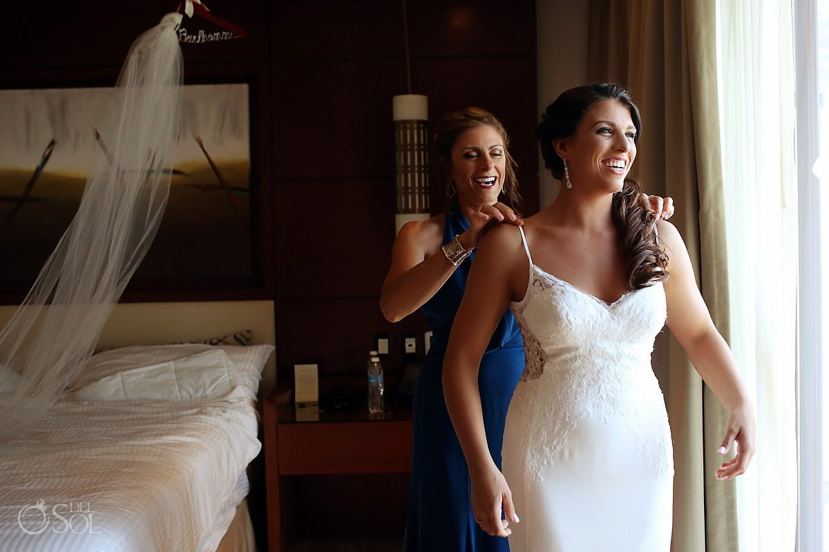 bride getting ready Secrets Playa Mujeres Golf and Spa Resort