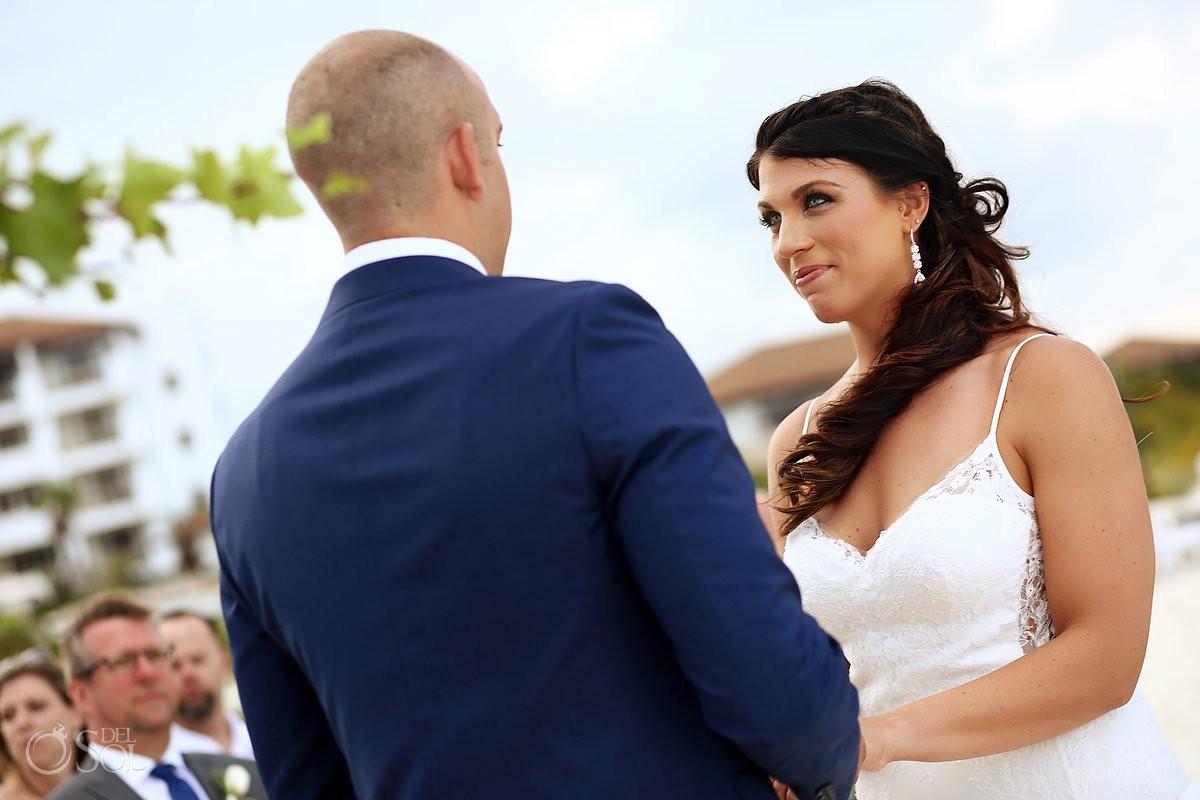 beach destination wedding ceremony Secrets Playa Mujeres Golf and Spa Resort