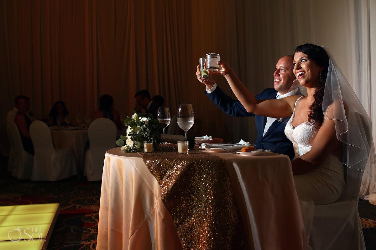 speeches destination wedding reception Secrets Playa Mujeres Golf and Spa Resort