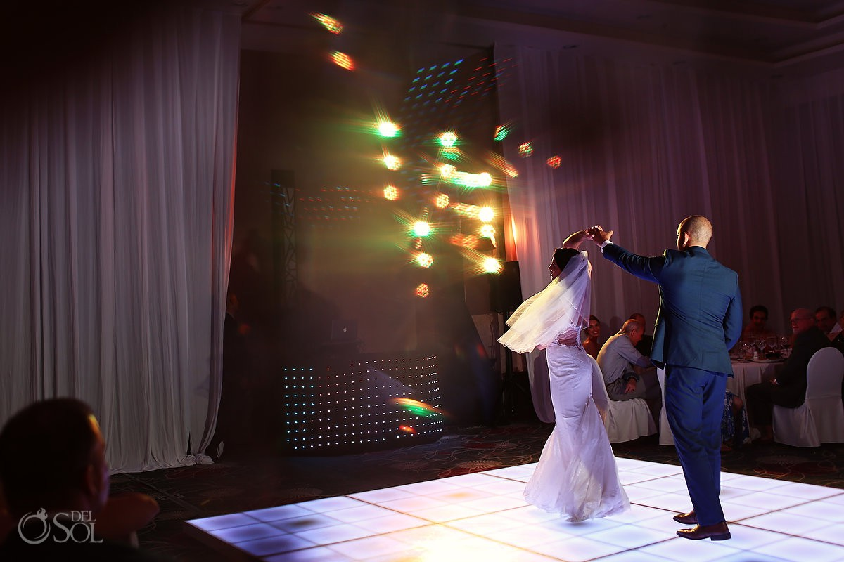 first dance destination wedding reception Secrets Playa Mujeres Golf and Spa Resort