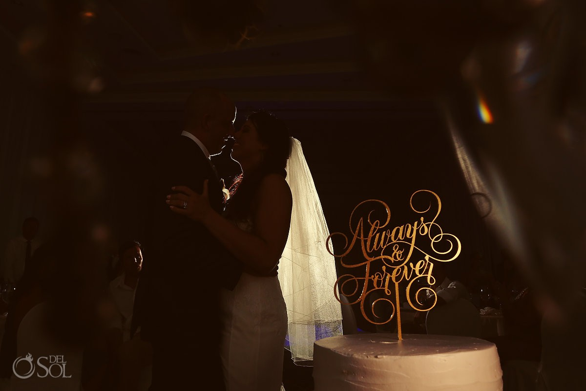 Always and Forever Wedding cake topper portrait Secrets Playa Mujeres Golf and Spa Resort