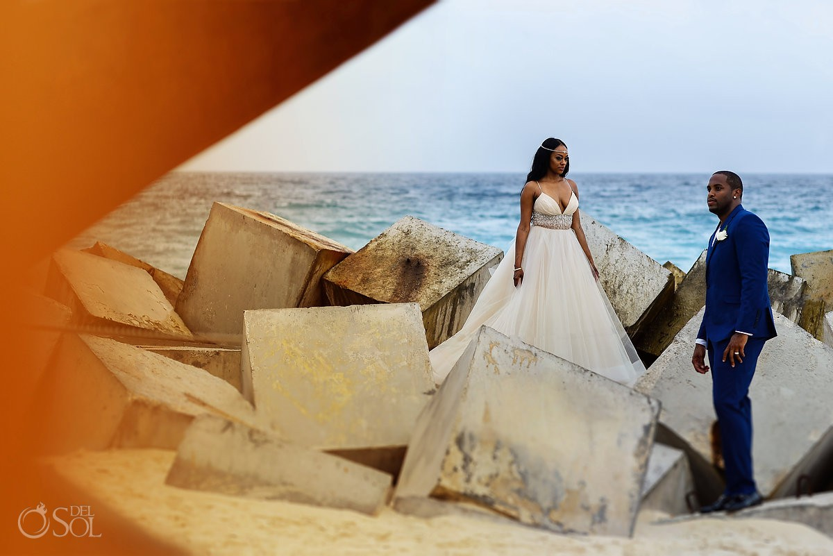 portraits destination wedding ceremony Hyatt Ziva Cancun Mexico