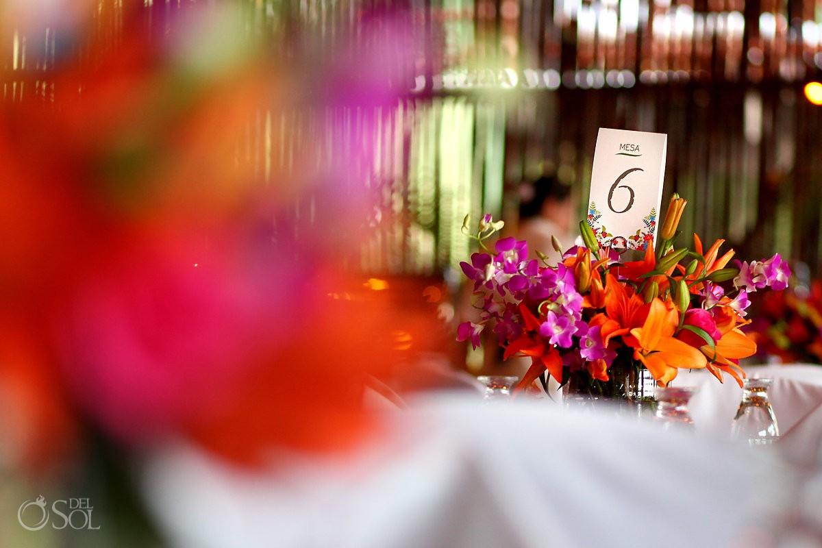 destination wedding reception set up Mahekal Beach Resort Playa del Carmen Mexico