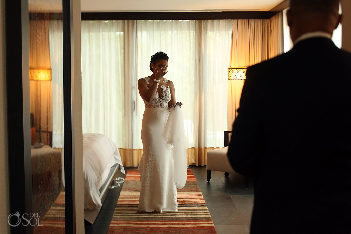 Banyan Tree Mayakoba Weddings bride