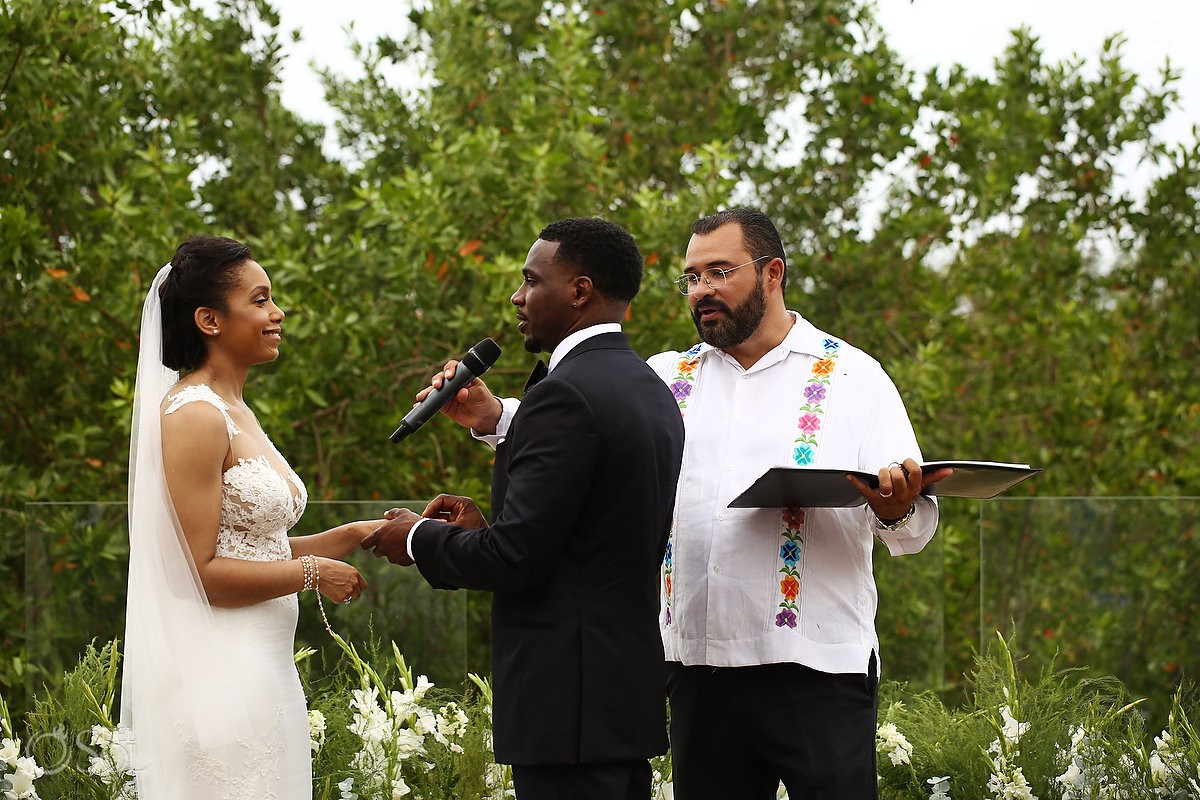 ring exchange Banyan Tree Mayakoba Wedding Playa del Carmen Mexico