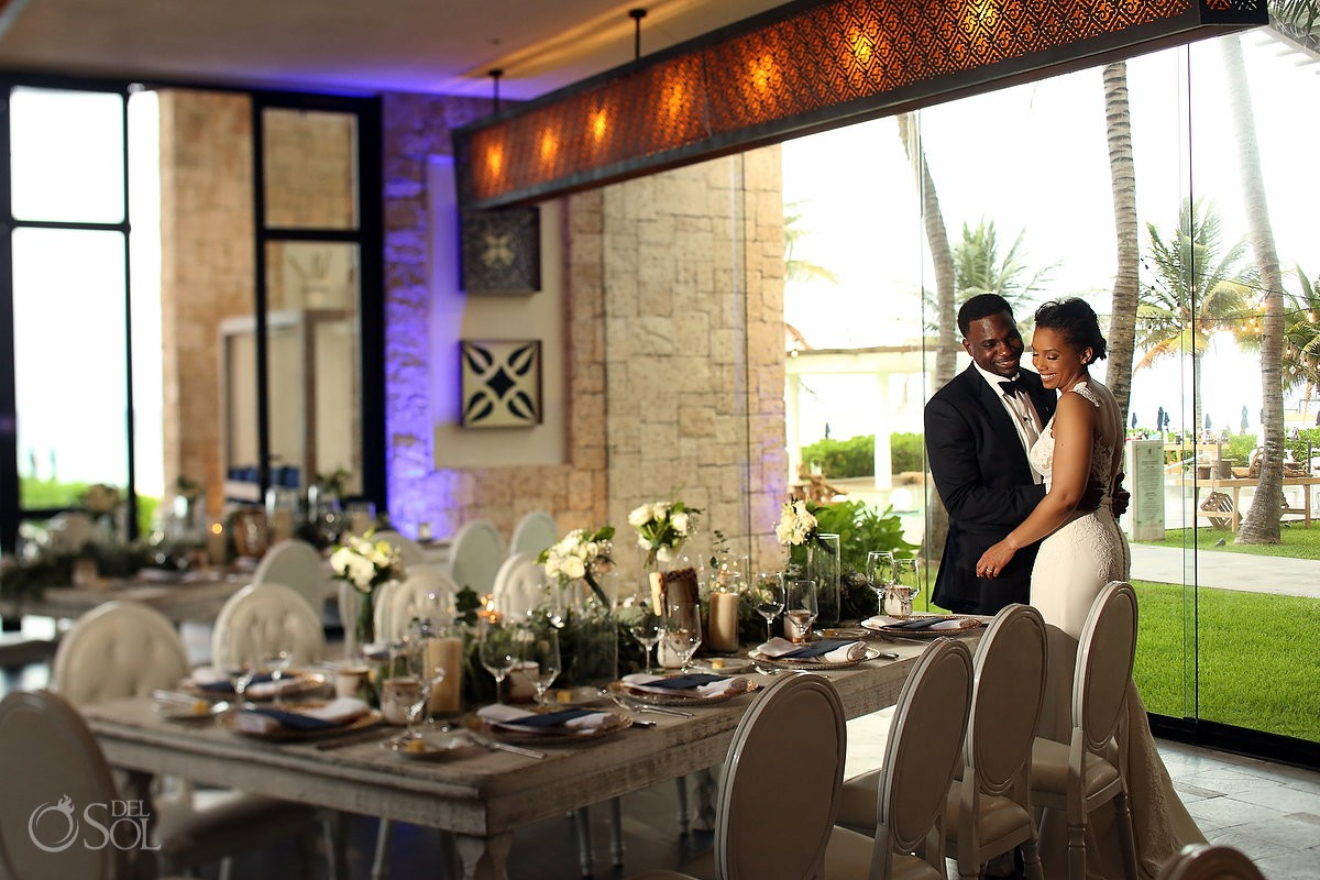 Banyan Tree Mayakoba Wedding Reception Setup