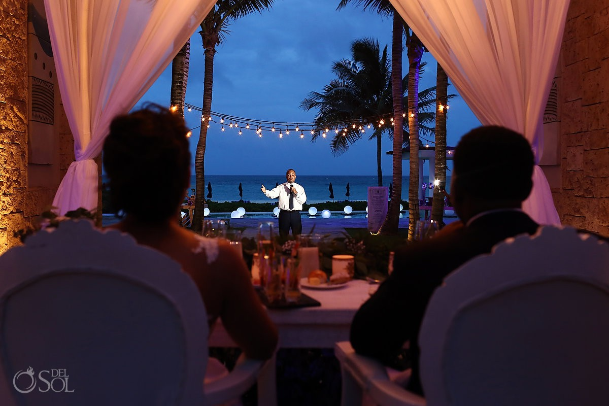 Banyan Tree Mayakoba Wedding reception speeches
