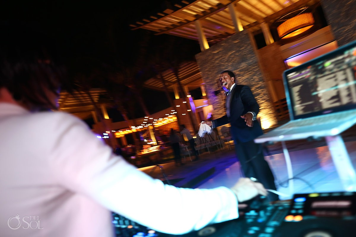 destination wedding reception Banyan Tree Mayakoba Playa del Carmen Mexico