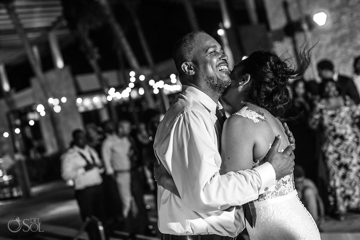 father daughter dance destination wedding reception Banyan Tree Mayakoba Playa del Carmen Mexico