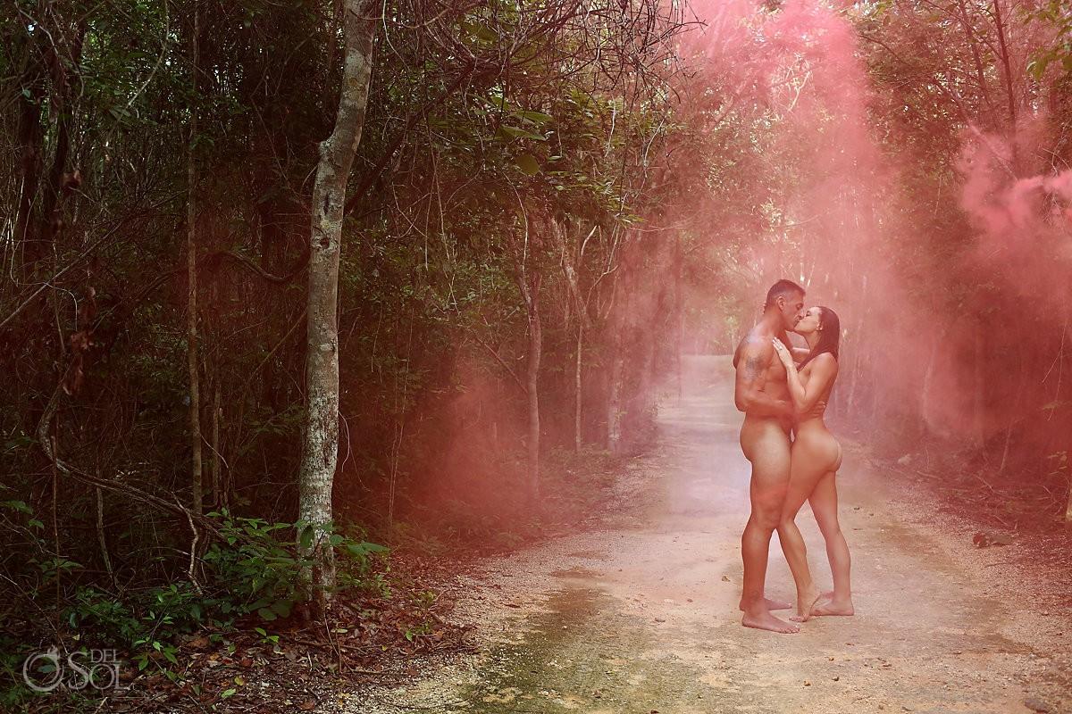 Adam and Eve cenote Trash the dress NSFW Fine art nude in the jungle Riviera Maya Mexico #TravelForLove