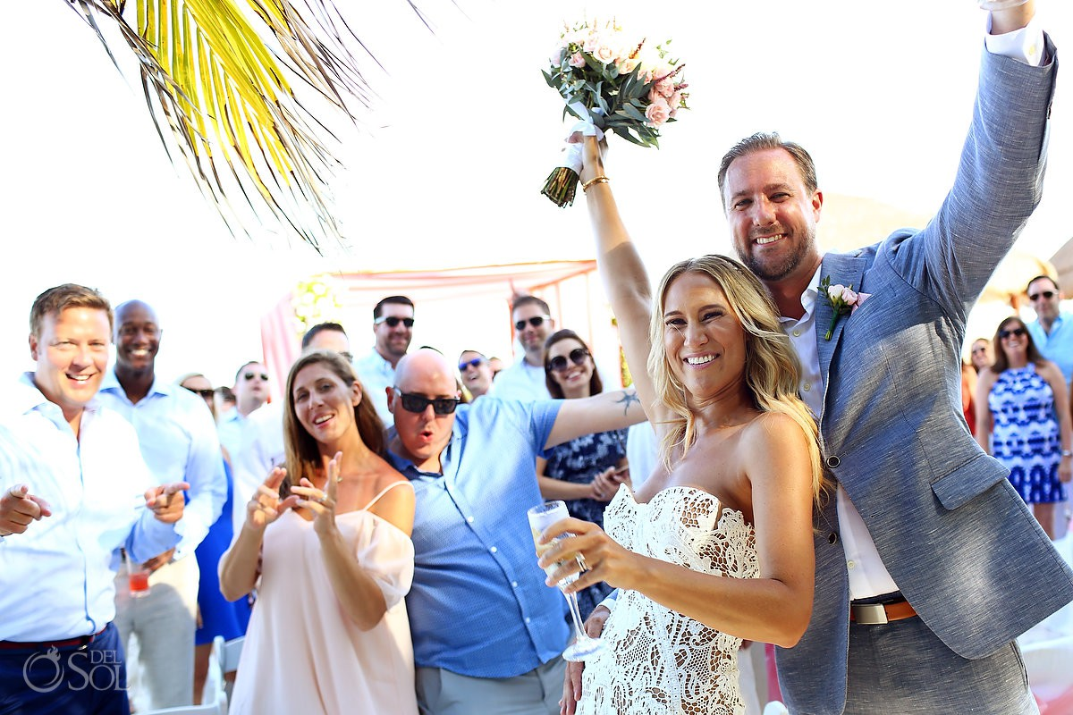 celebration after wedding destination wedding El Dorado Maroma Playa del Carmen Mexico