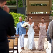 Bride and groom first look Destination Wedding Grand Velas Riviera Maya Playa del Carmen Mexico