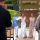 Bride and groom first look Destination Wedding Grand Velas Riviera Maya Playa del Carmen Mexico
