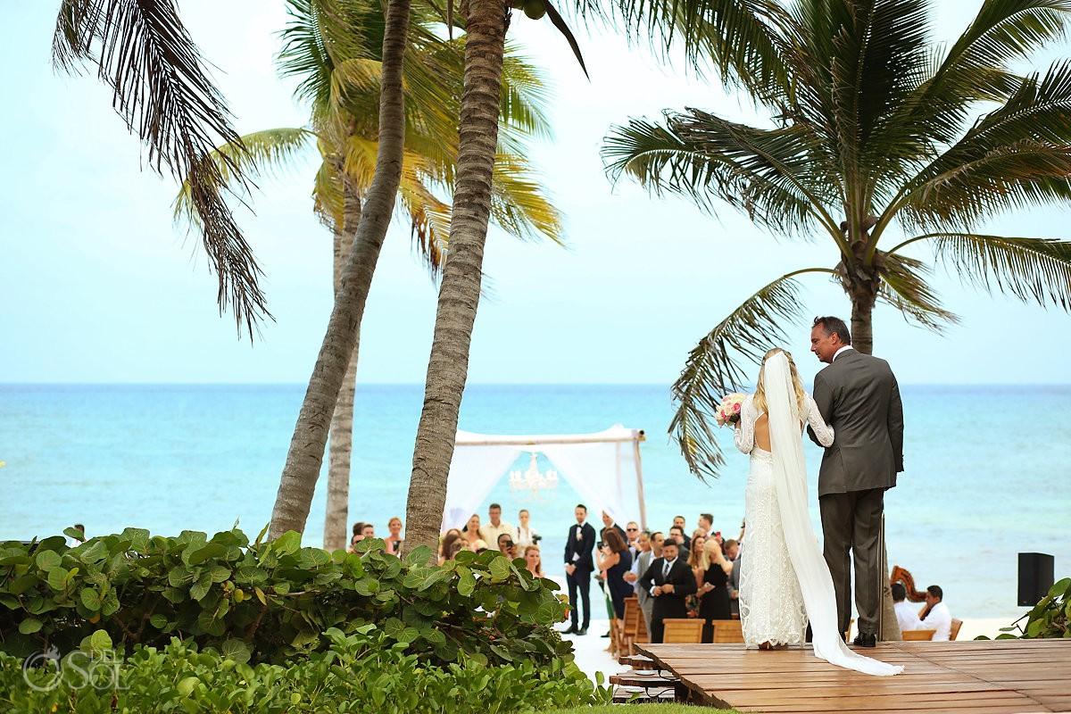 Grand Velas Beach Wedding Photo