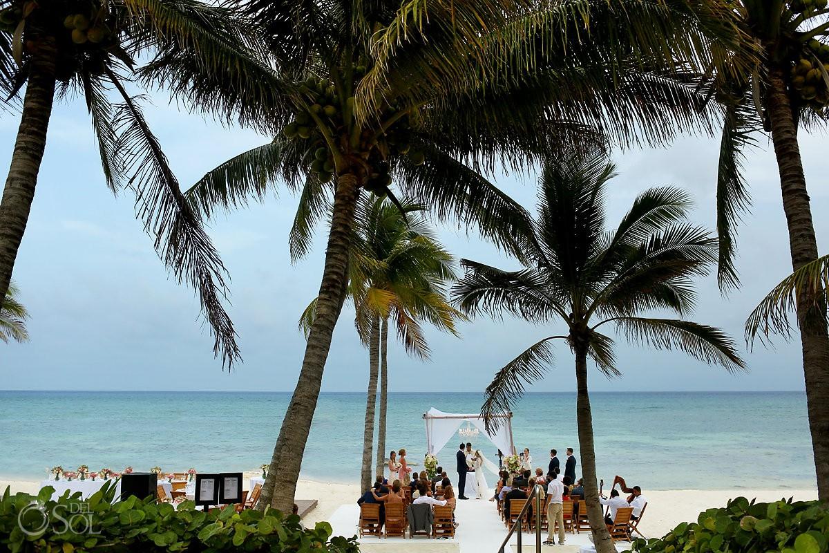 Grand Velas Beach Wedding Ceremony
