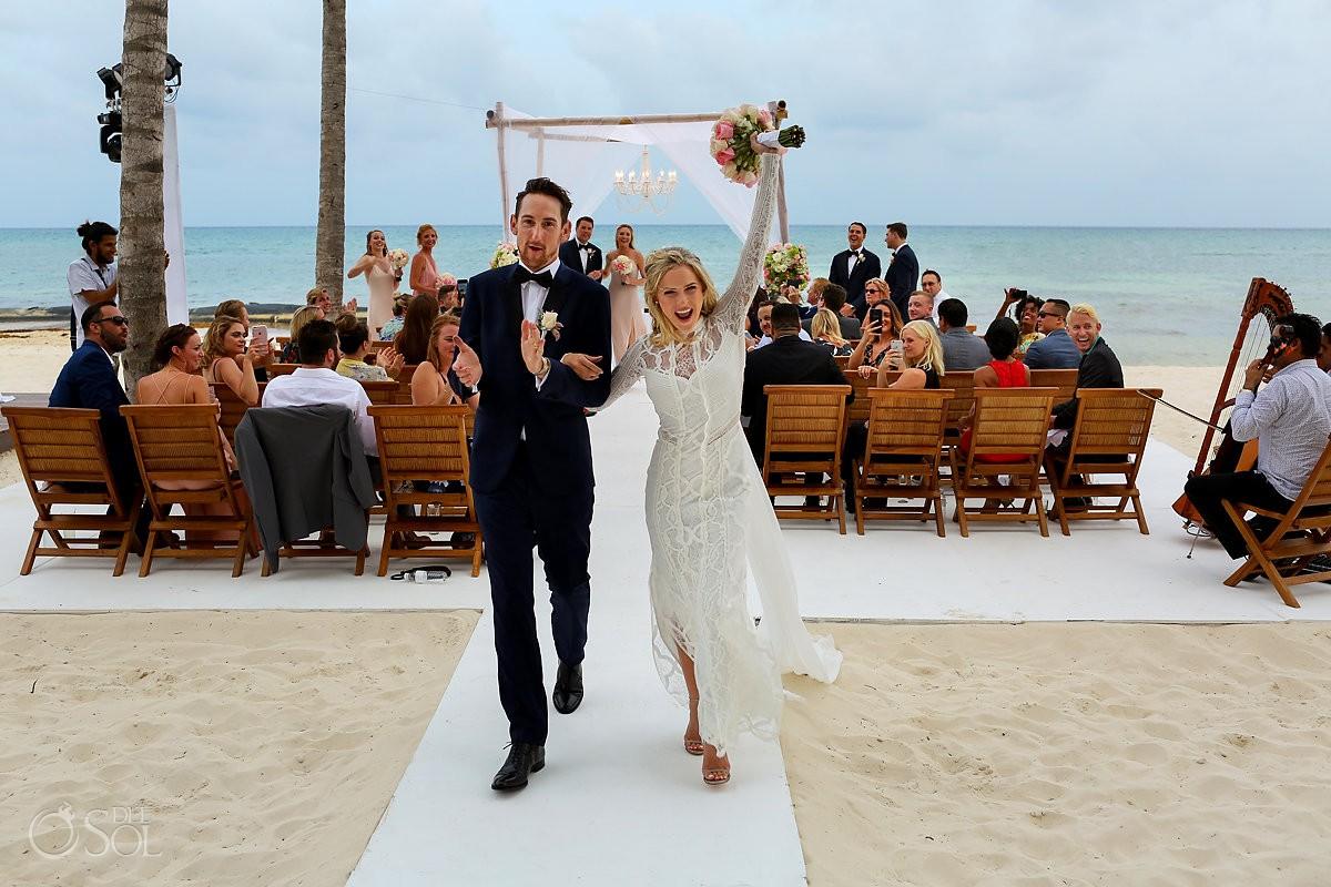 Grand Velas Beach Wedding Photograph