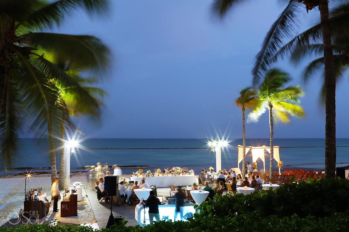 Grand Velas Beach Wedding Reception