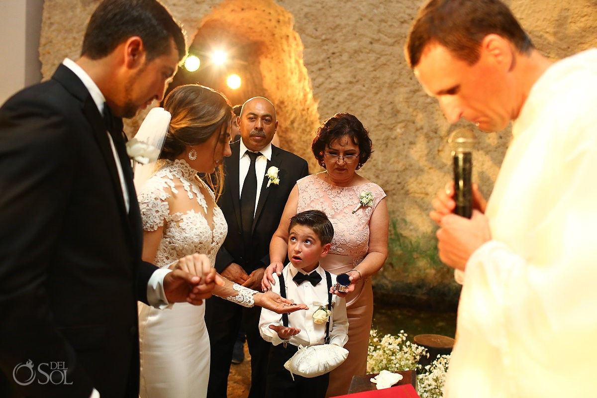 kids at weddings Guadalupe Chapel Xcaret Park and Hotel Hard Rock Riviera Maya Mexico