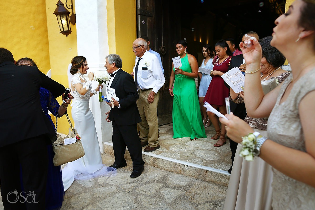 Wedding guest family love Guadalupe Chapel Xcaret Park Riviera Maya Mexico