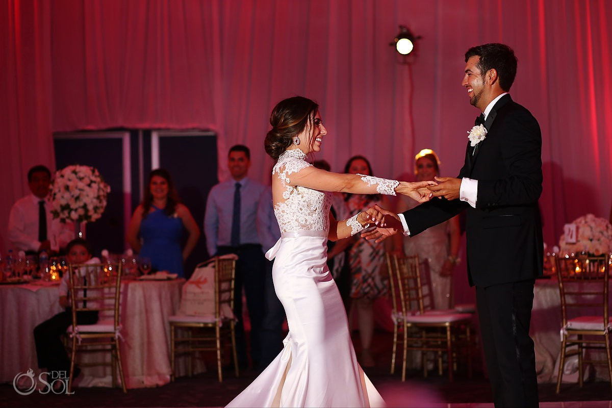 First Dance Bride and Groom Hotel Hard Rock Riviera Maya Mexico