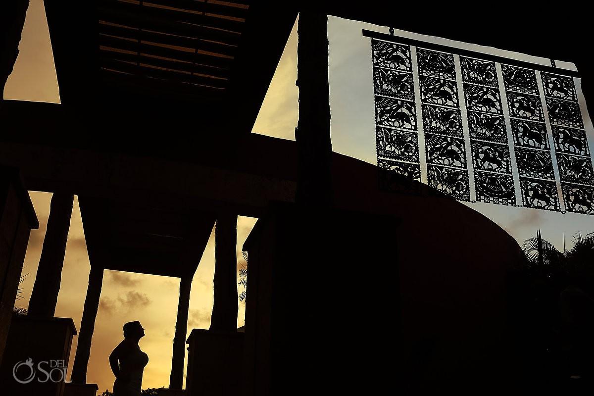 Creative bride silhouette Zoe'try Paraiso de la Bonita Riviera Maya, Mexico