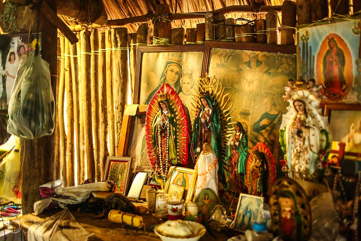 Mexican religious figures of the Guadalupe Virgin