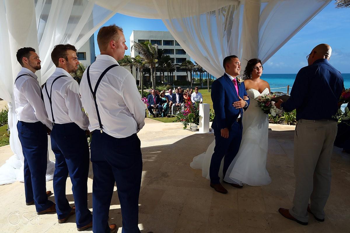 Hyatt Ziva wedding photography ceremony cliff top gazebo Cancun mexico