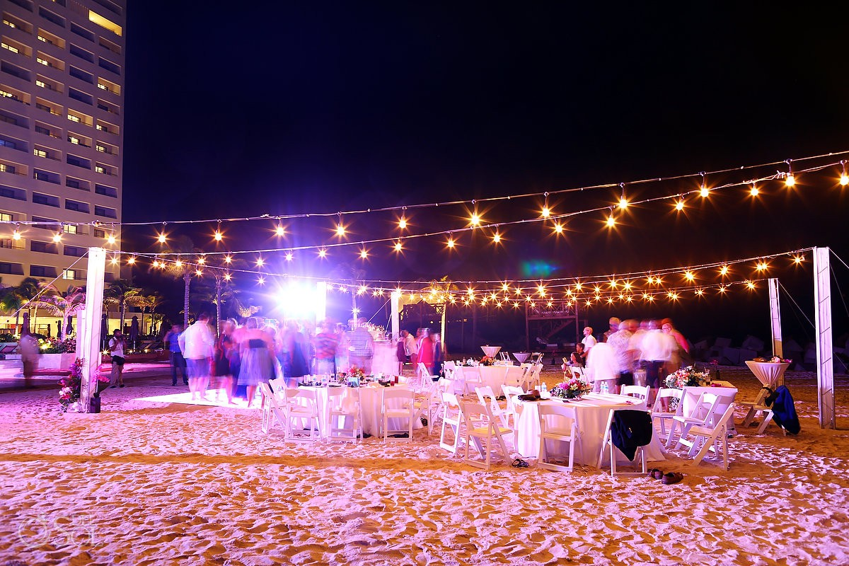 beachside destination wedding reception hyatt ziva cancun mexico
