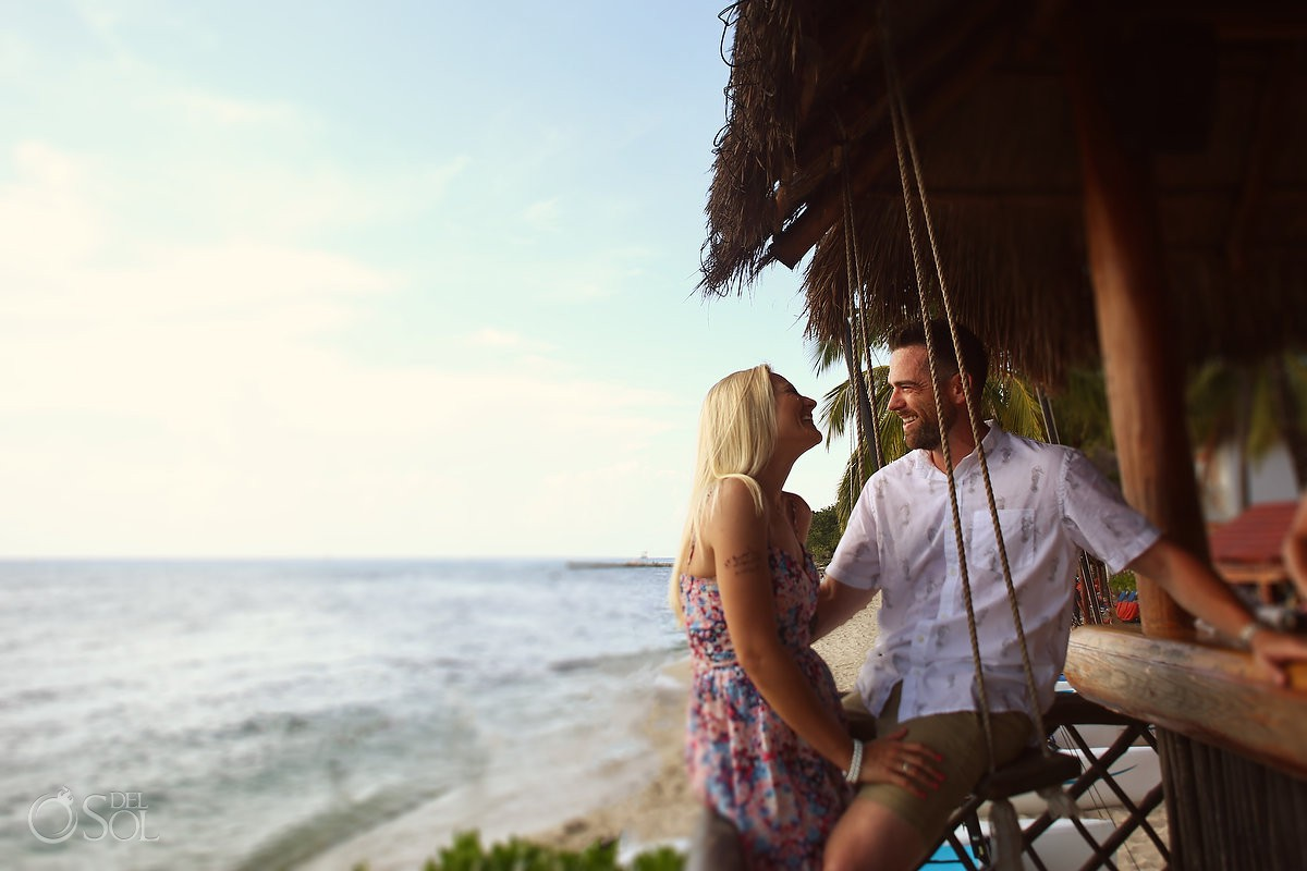 love in the caribbean Engagement and Beach Portraits Secrets Aura Cozumel Cozumel Mexico