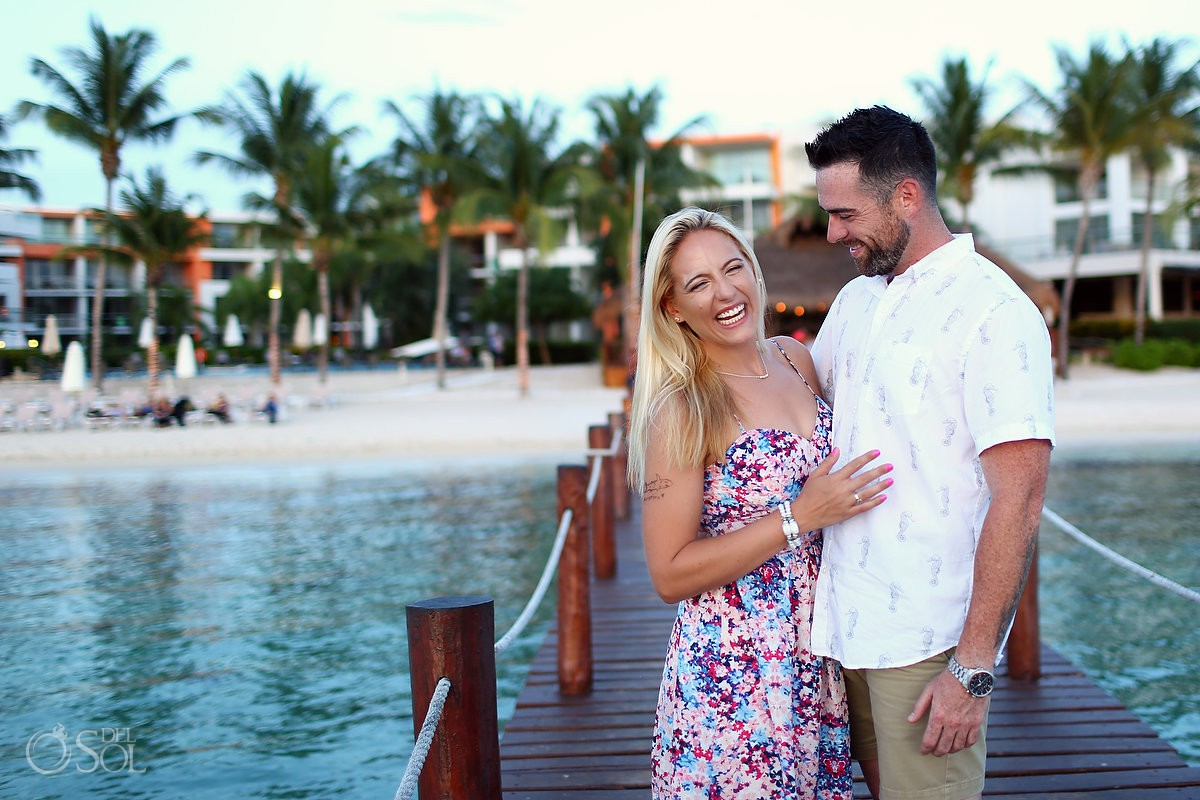 Caribbean ocean romantic couple Engagement and Beach Portraits Secrets Aura Cozumel Cozumel Mexico