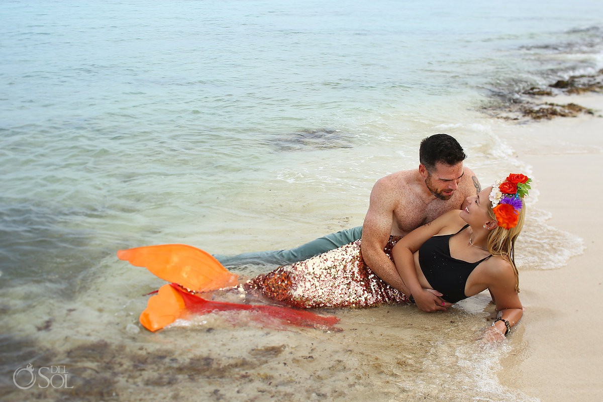 Mermaid Save the Date - Secrets Aura Cozumel #Aworldofitsown