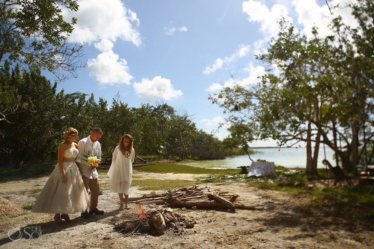 Surprise Vow Renewal Portraits at Tulum Mexico