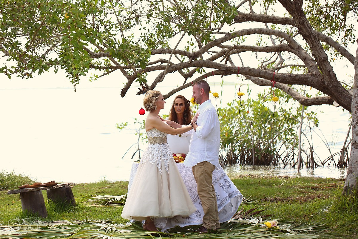 Bride and Groom Surprise Vow Renewal Portraits Tulum Mexico