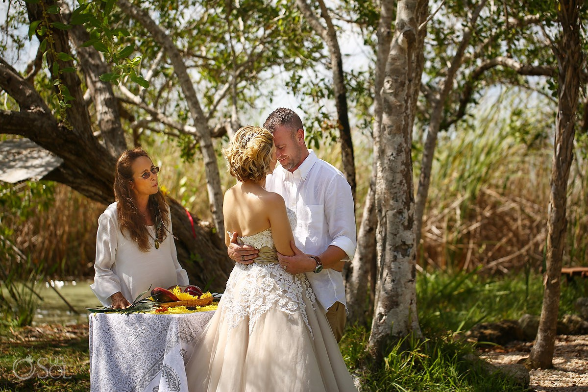 Nature blessing Surprise Vow Renewal Portraits Tulum Mexico