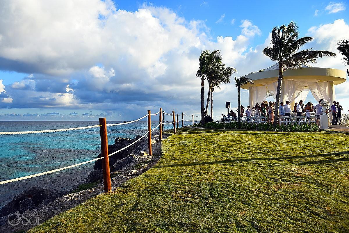 cliffside wedding gazebo hyatt ziva cancun destination wedding venue