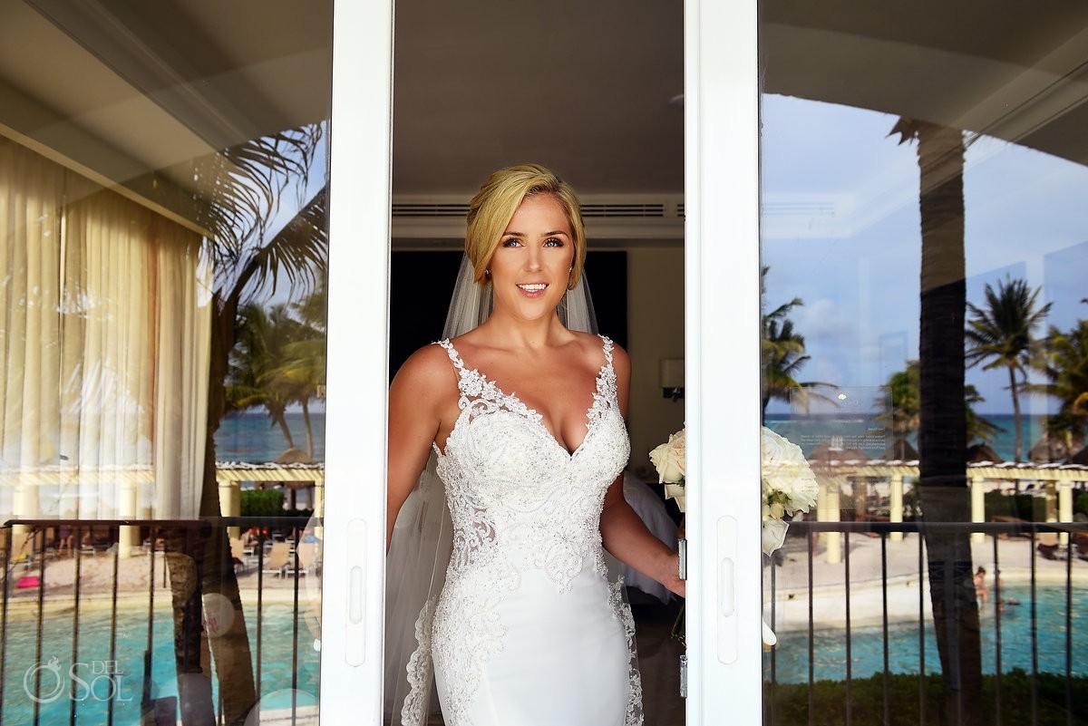 bride portrait Dreams Tulum Riviera Maya Mexico