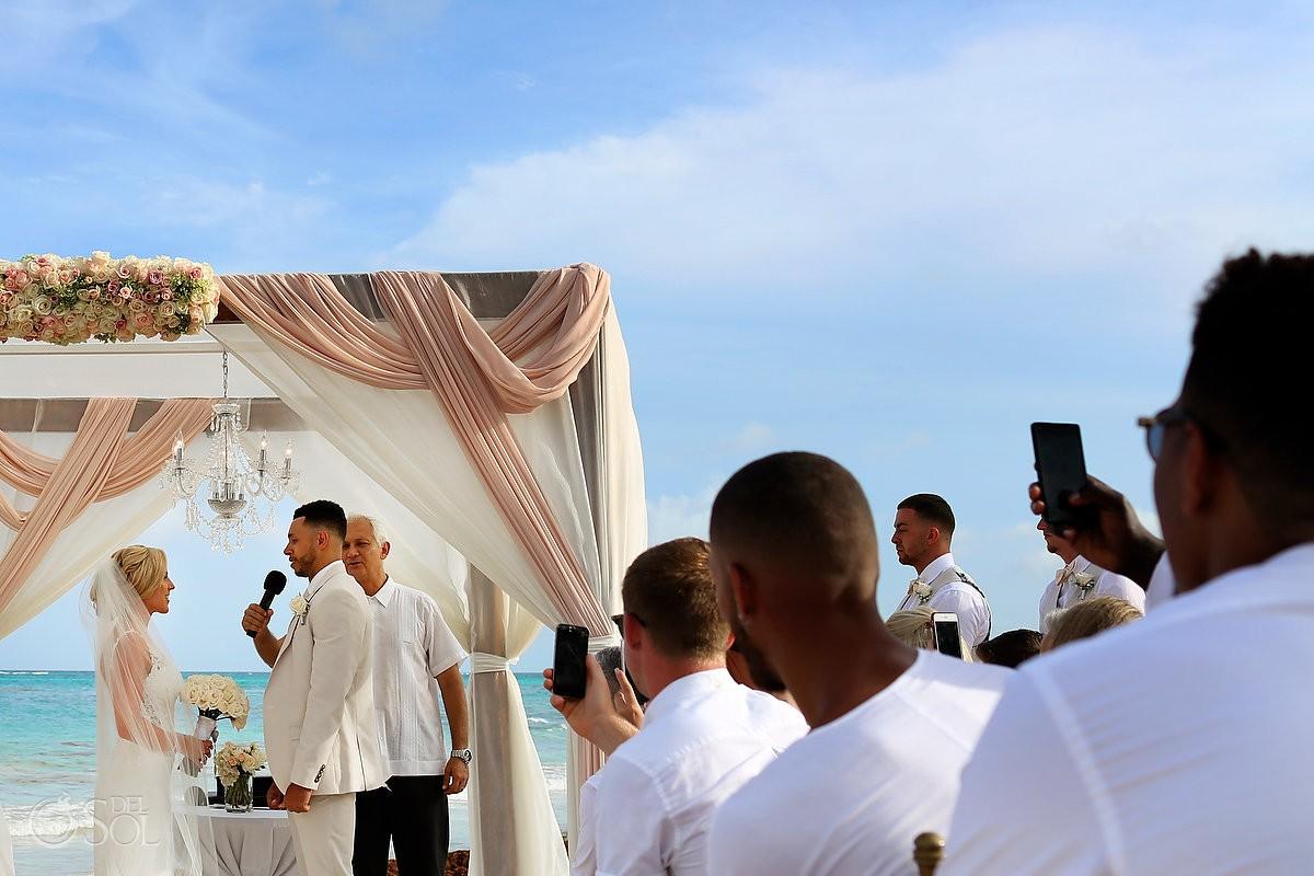beach wedding ceremony Dreams Tulum Riviera Maya Mexico