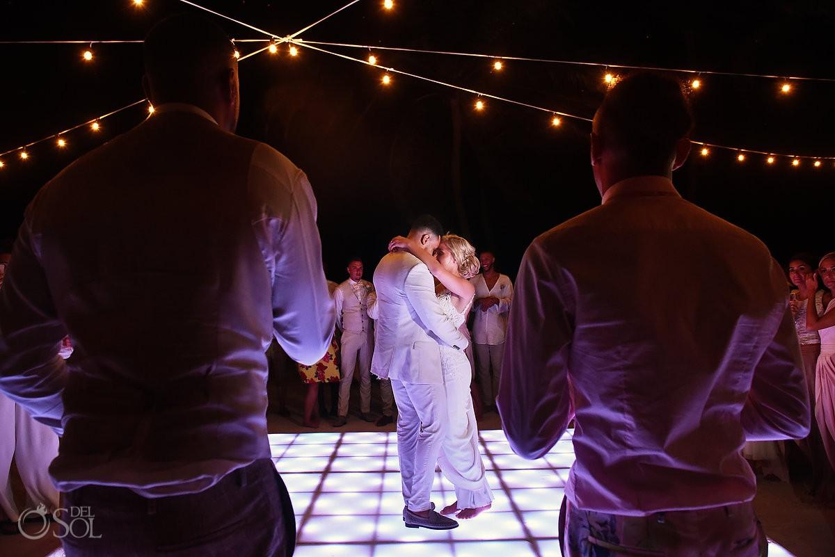 first dance destination wedding reception Dreams Tulum Riviera Maya Mexico